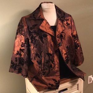 Dressy jacket with floral pattern
